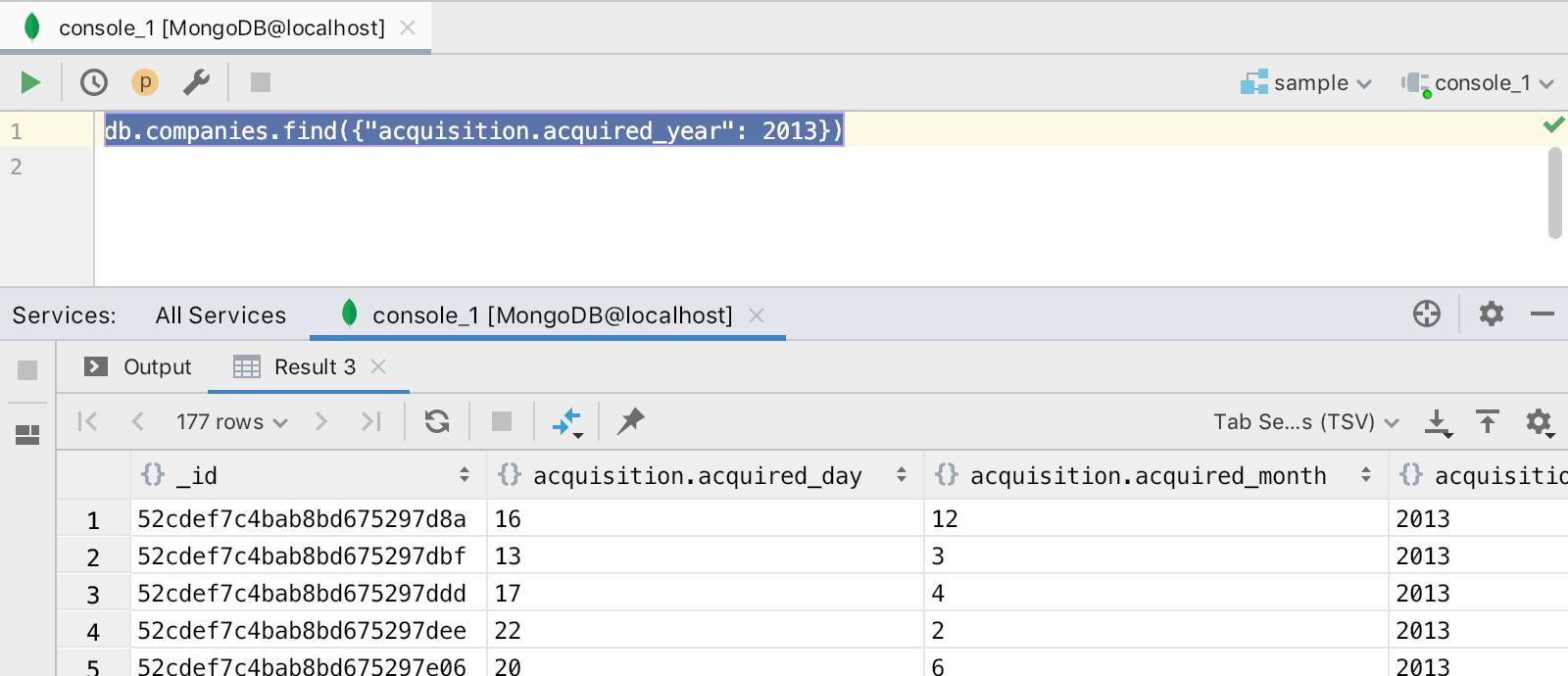 mongodb-run-query