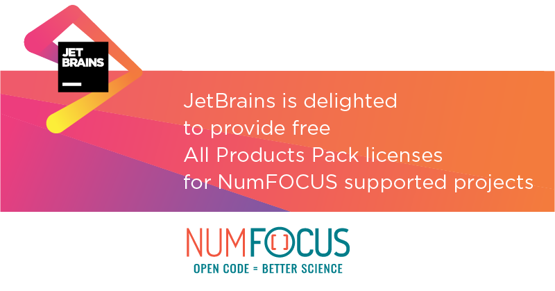 JetBrains Supports NumFOCUS-sponsored Open Source Projects