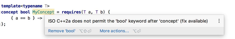 Compiler Concept checks