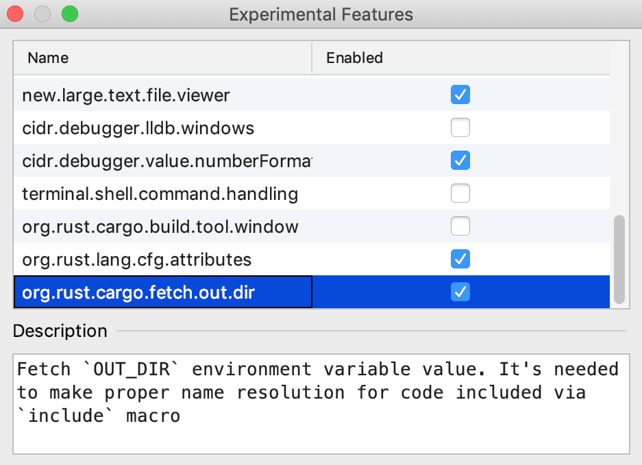 Enable fetching OUT_DIR for include macro