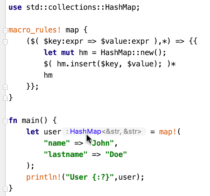 Type inference for arbitrary macros