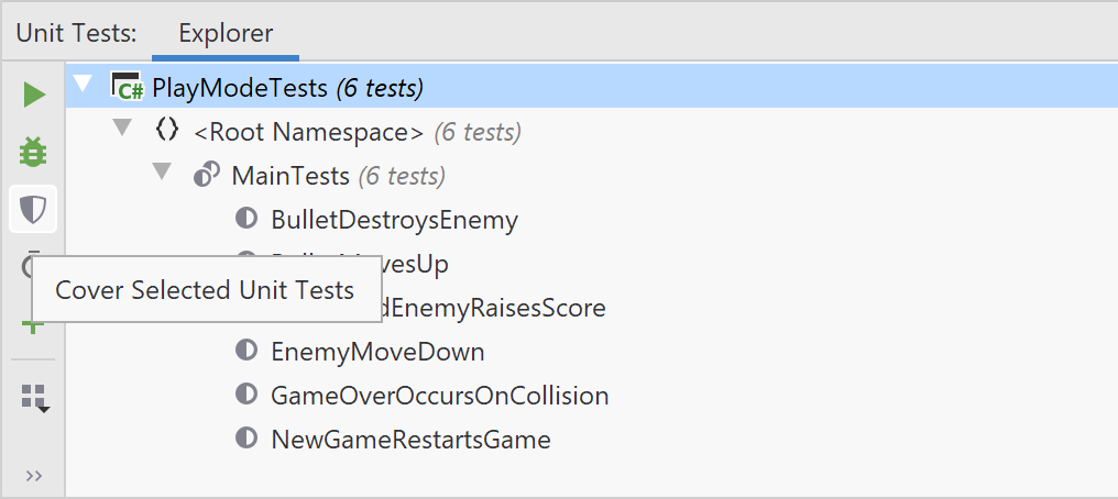 dotCover. Cover Unity Tests