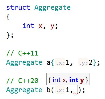 Parenthesized initialization of aggregates