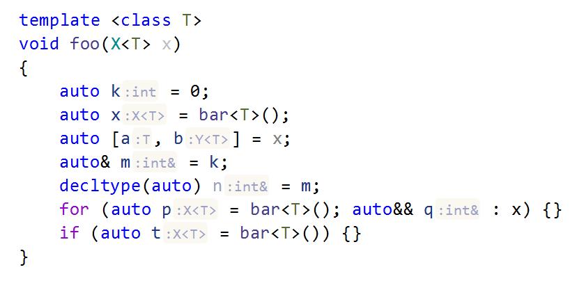 Dependent code hint in C++