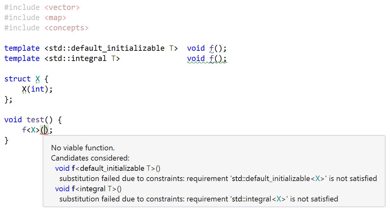 Concepts overloading error