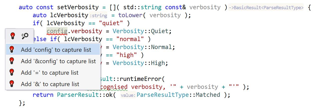 Add lambda capture quickfix