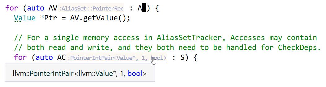 Type hints in range-based for loop