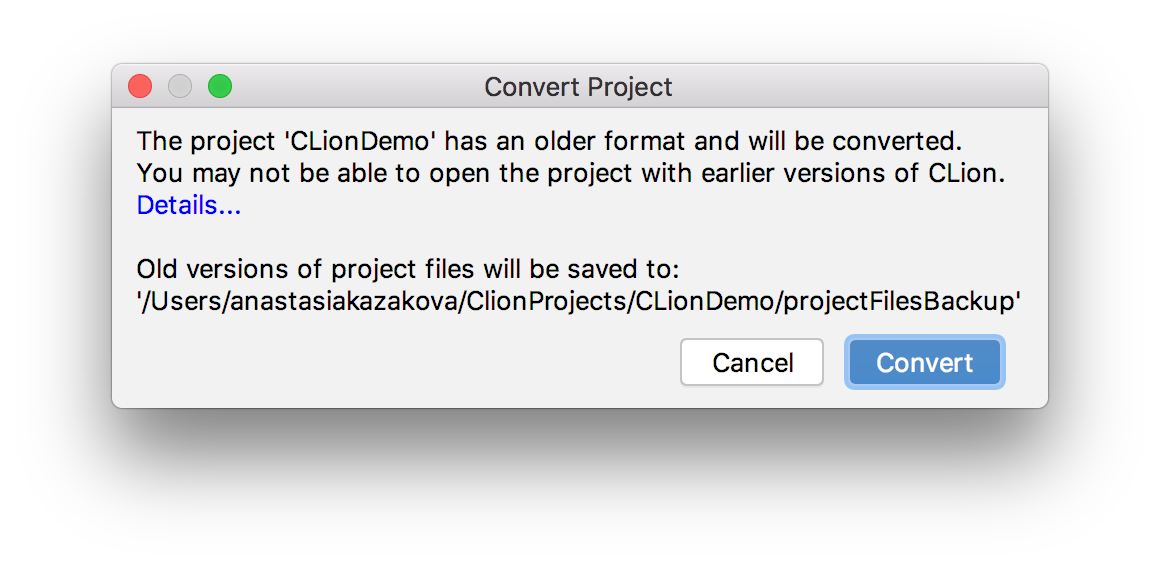 Convert project