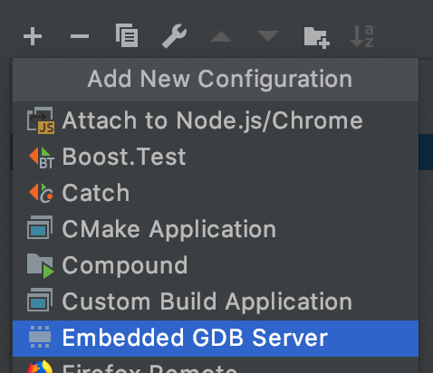 Embedded GDB server config