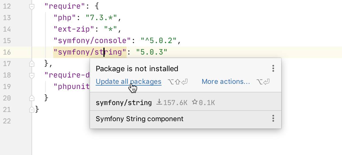 composer-json_update dependecies