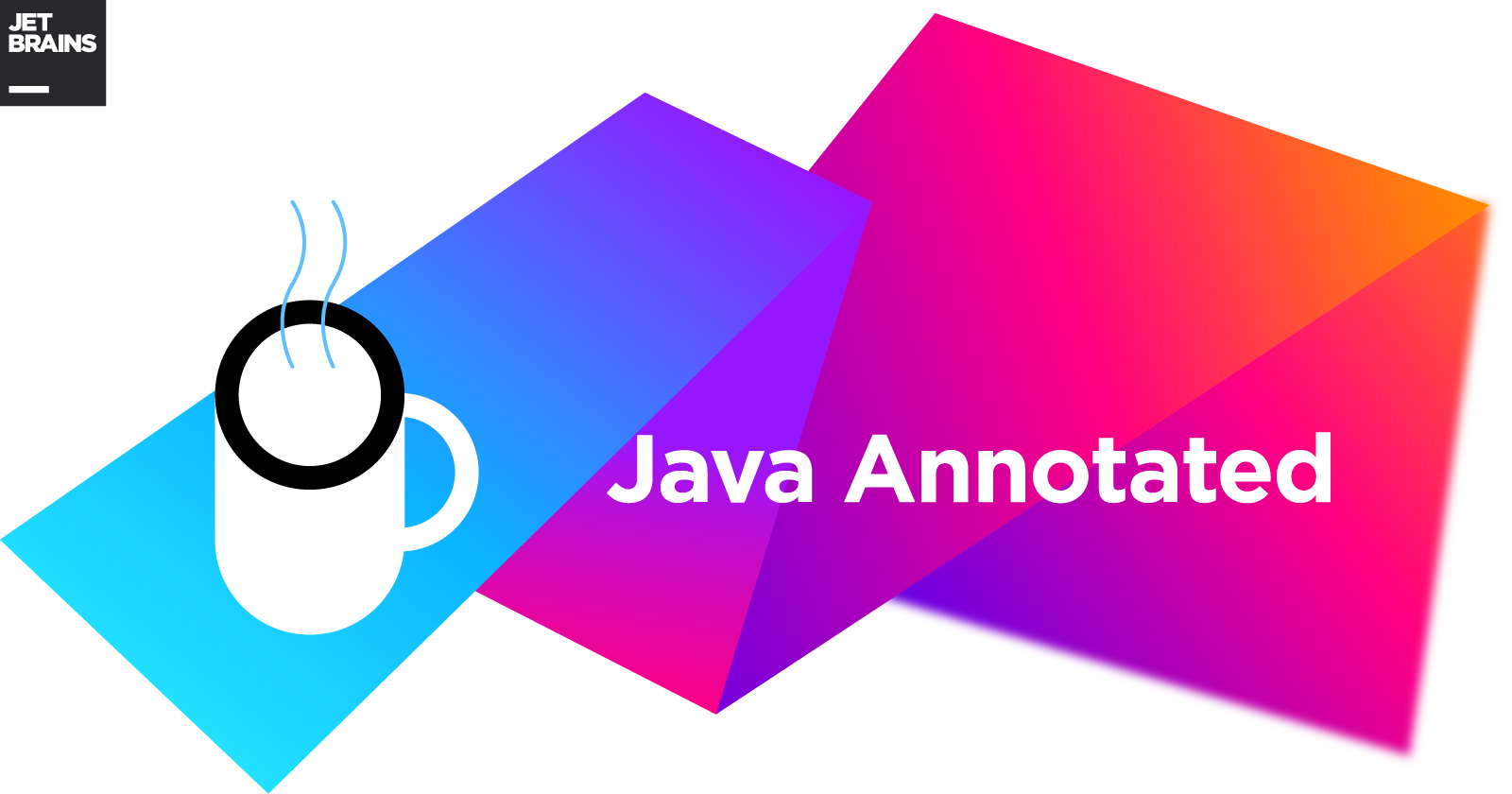 Java Annotated Monthly Logo with coffee mug and JetBrains logo