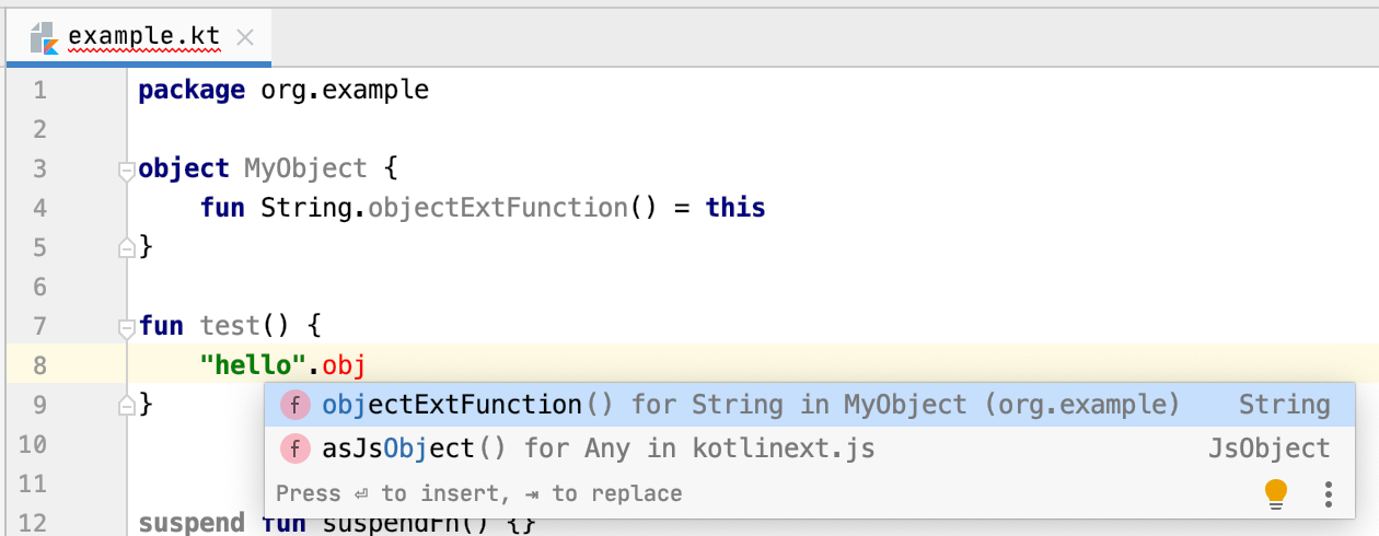 object-extension-completion