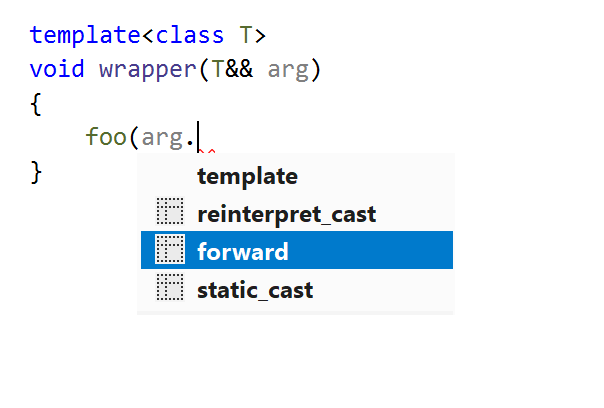 Postfix template: std::forward