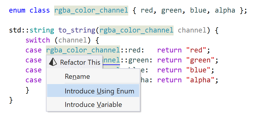 Introduce Using Enum
