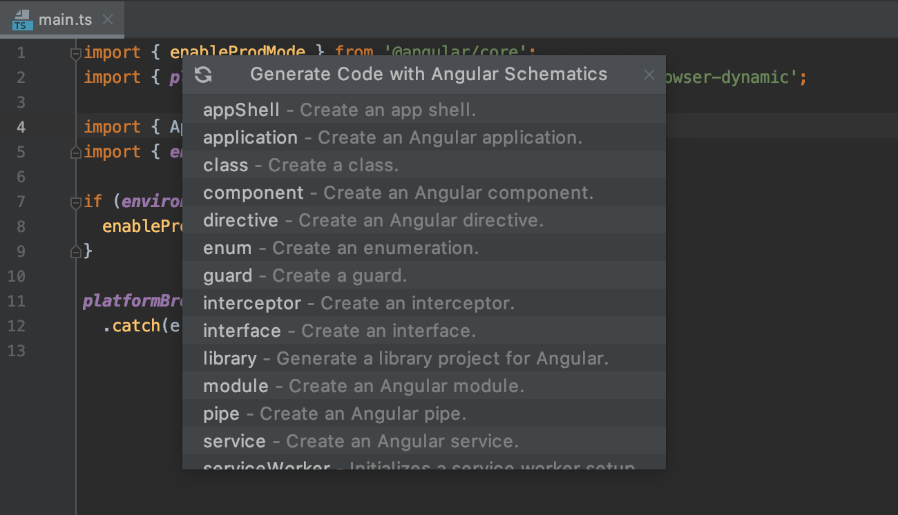 schematics-with-angular