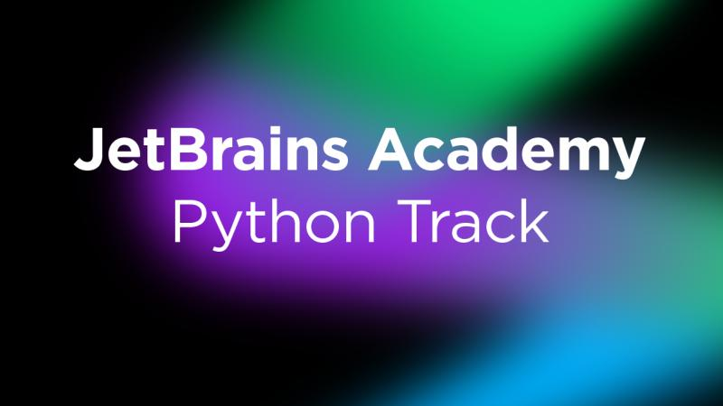 Track Python JetBrains Academy