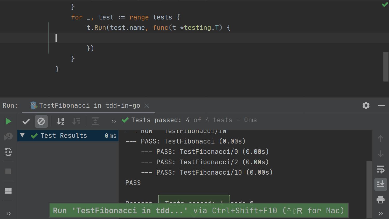 GoLand에서의 TDD - 05 - 코드 없이 테스트 실행하기