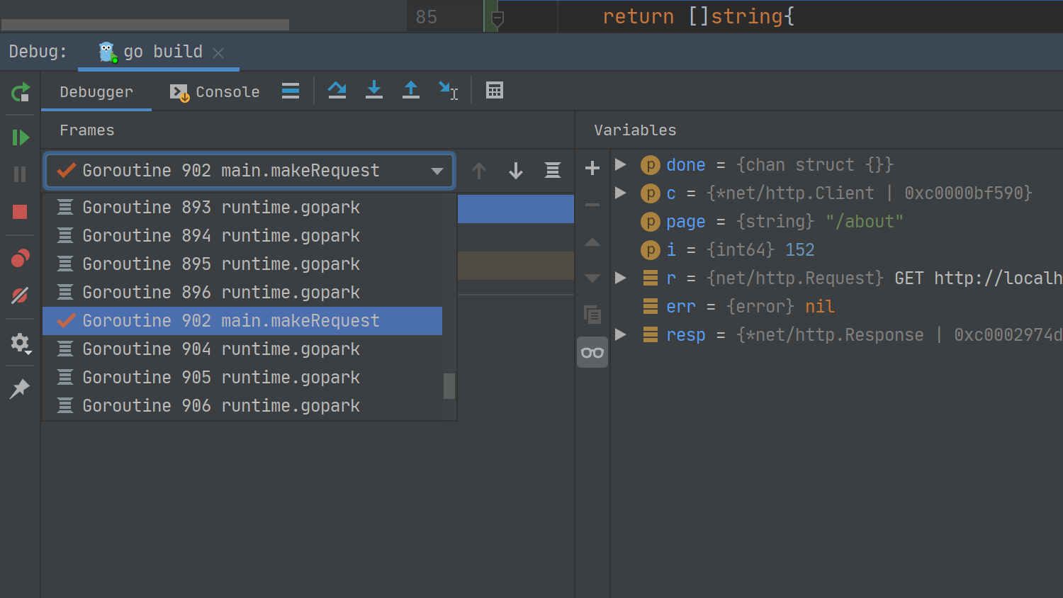 debugger without labels