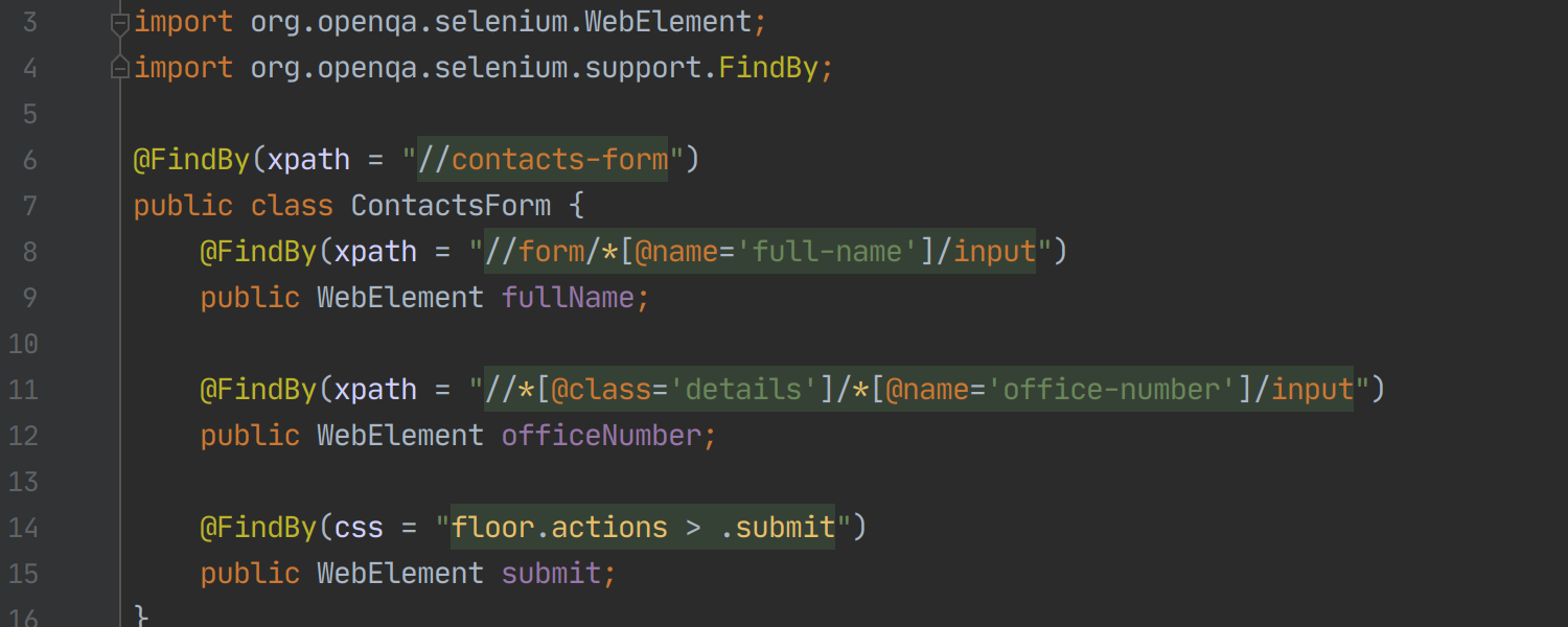 Selenium Page Object