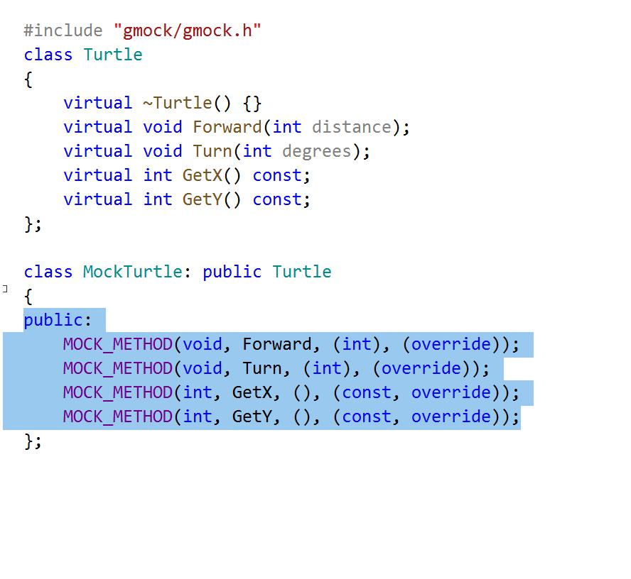 la macro MOCK_METHOD introduite dans GTest 1.10