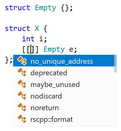 C++20 attribute: [[no_unique_address]]