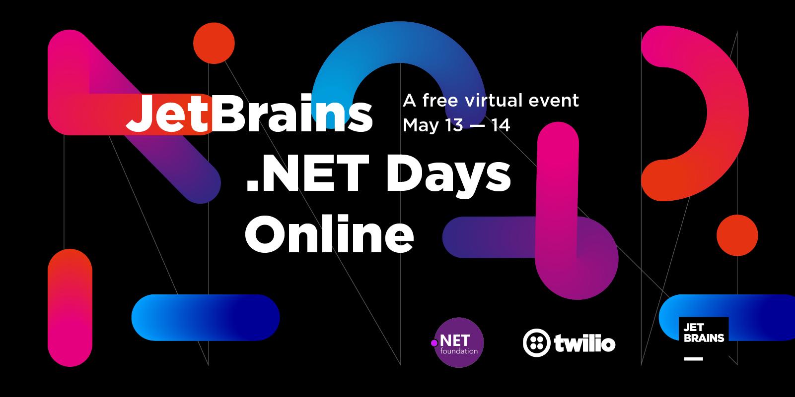 JetBrains .NET Days Online, 13 et 14 Mai 2020