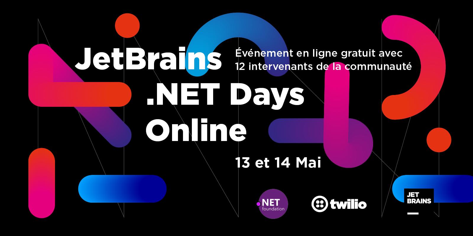 Événement virtuel gratuit JetBrains .NET Days Online13 et 14 Mai 2020