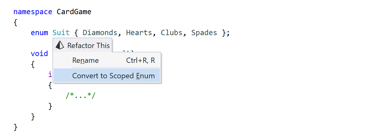 Convert to Scoped Enum