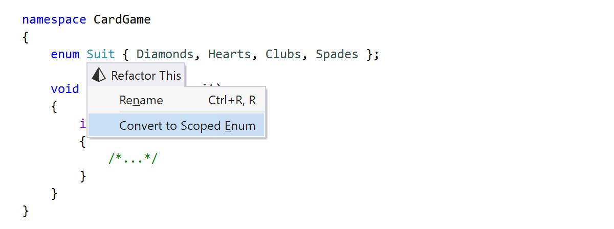 Convert to Scoped Enum