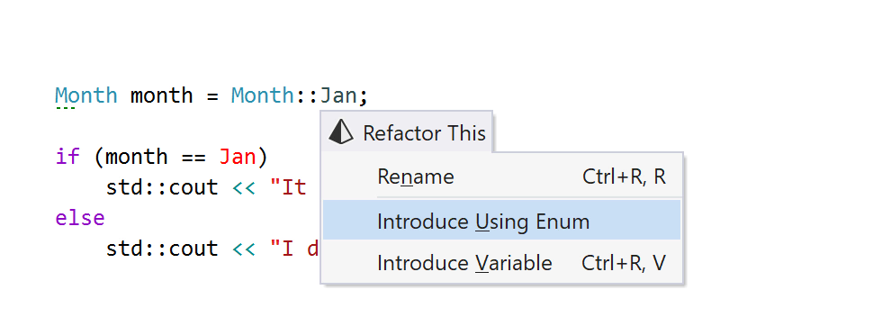 The Introduce Using Enum refactoring