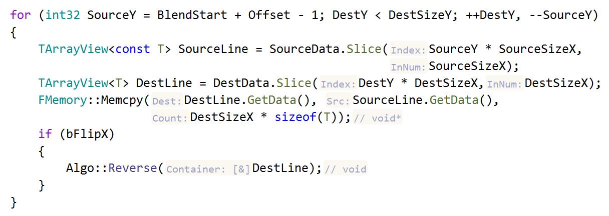 Indications dans le code dépendant