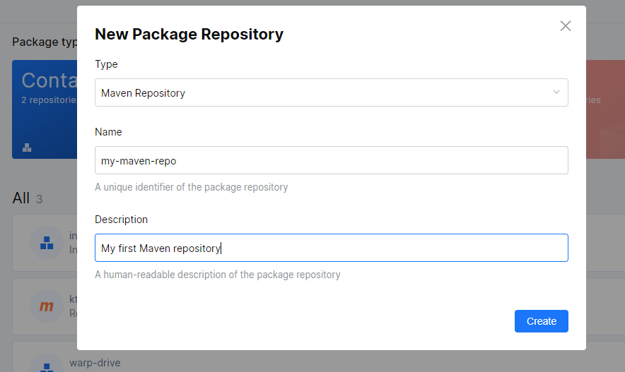 JetBrains Space. Create Maven repository in Packages