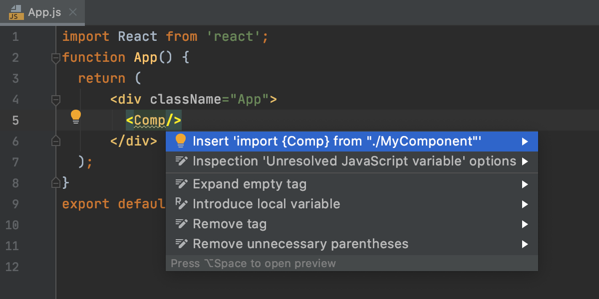 insert-imports-for-react-memo-components