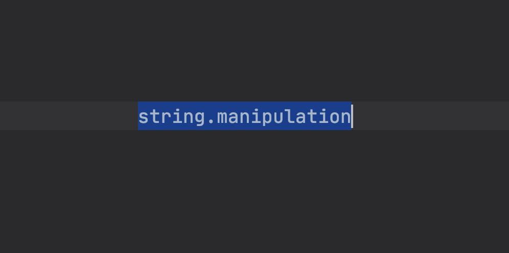 string-manipulation