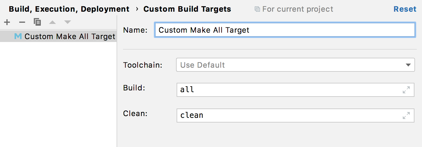 Custom makefile targets