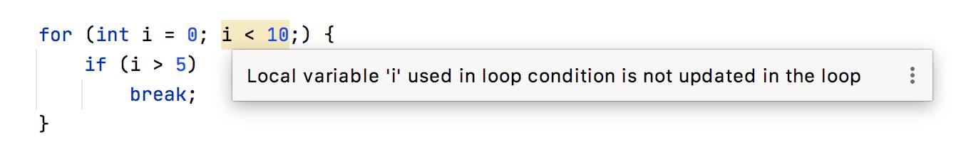 Loop conditions checks
