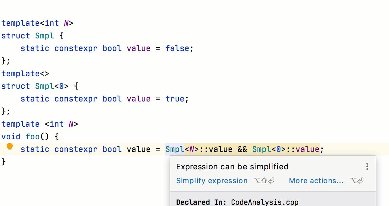 Simplify quick-fix