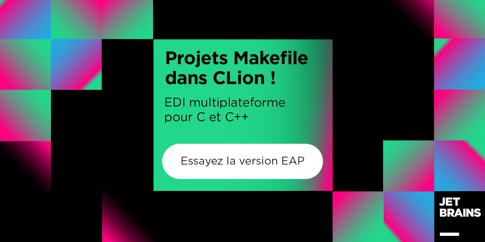 Prise en charge des projets Makefile dans CLion