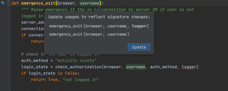 Static remove parameter