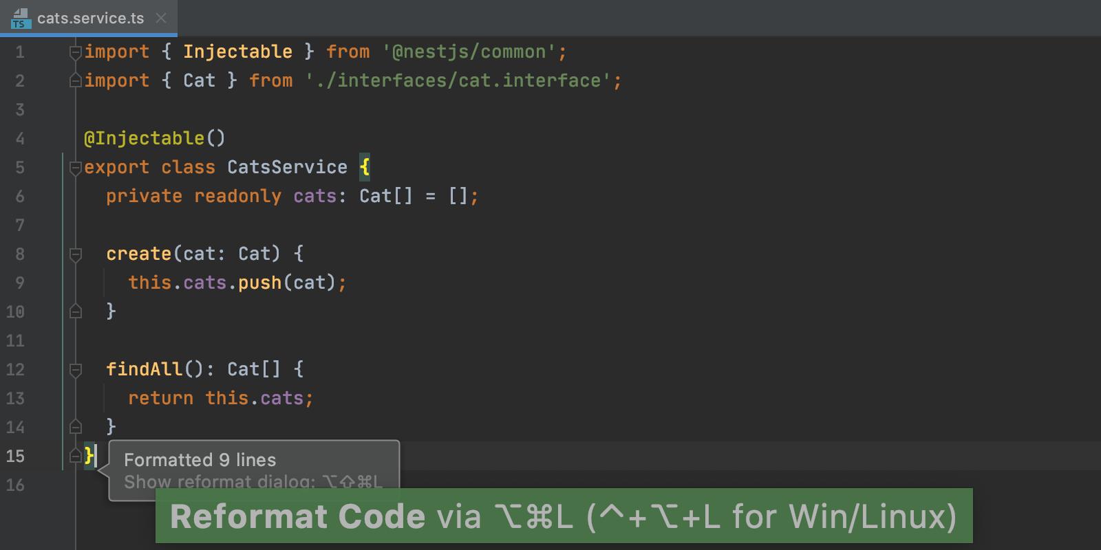reformat-code-prettier-default