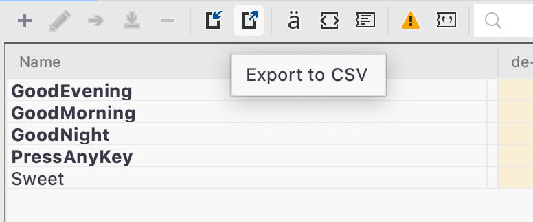Import/Export Values