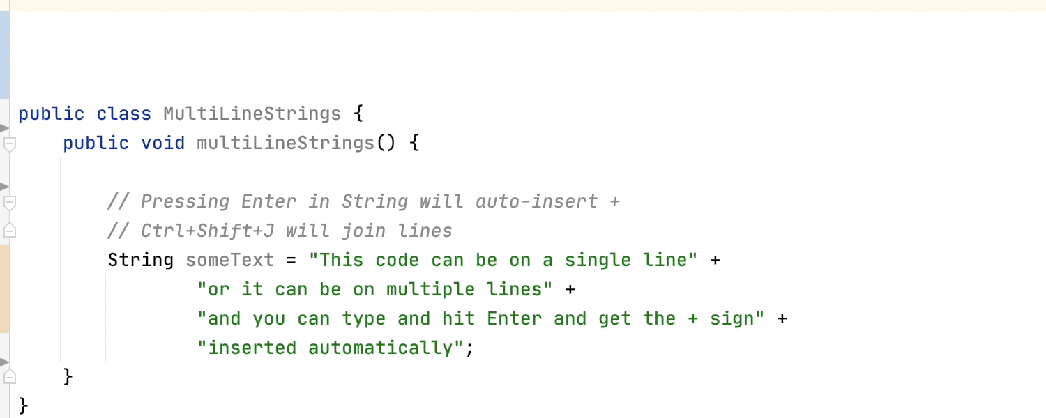 Animated GIF showing how to expand and shrink chunks of code