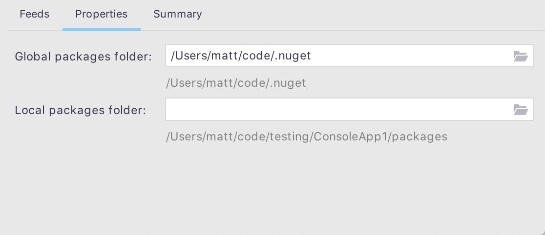 Editing Common NuGet Properties