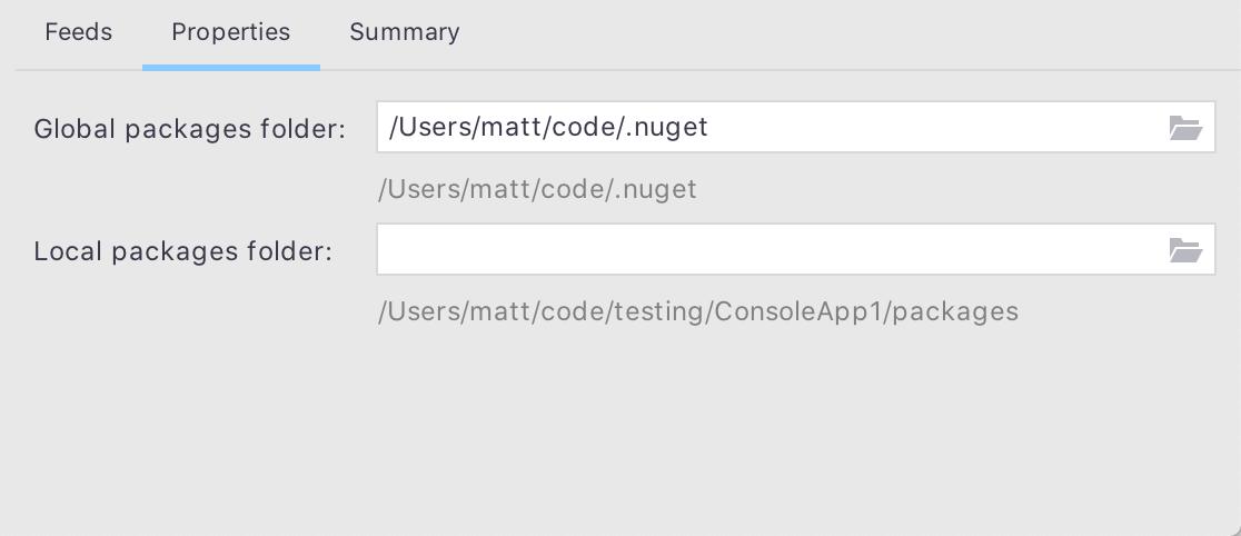 Editing Common NuGet Properties