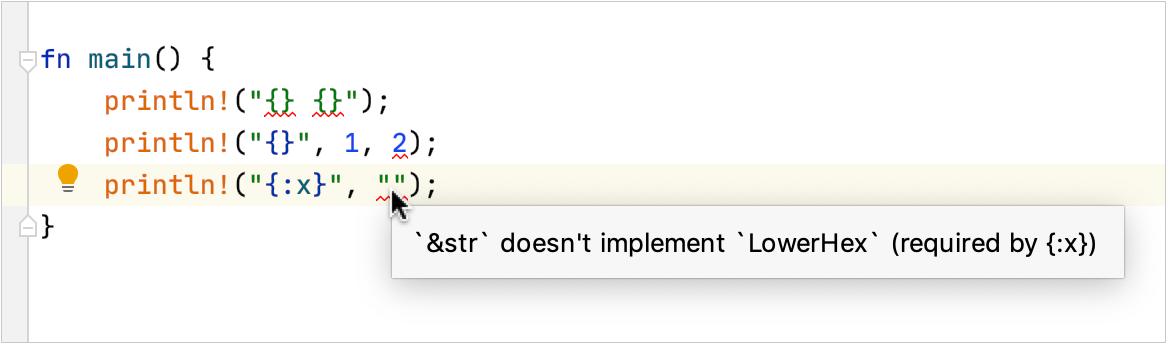 Format string error annotation