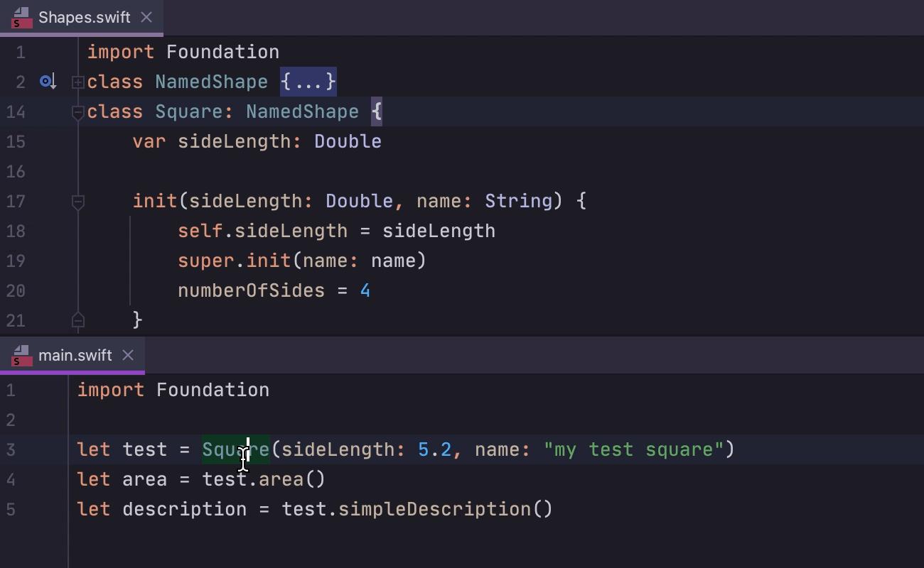 Swap parameters