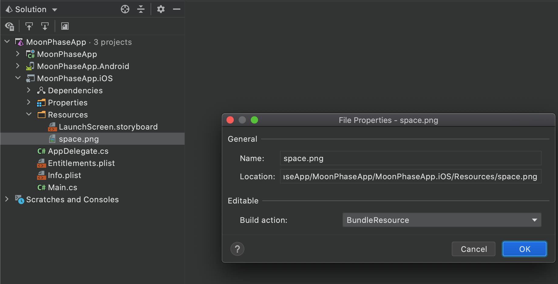 Adding iOS Resource