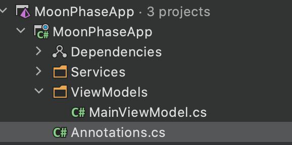 MainViewModel In ViewModel Folder