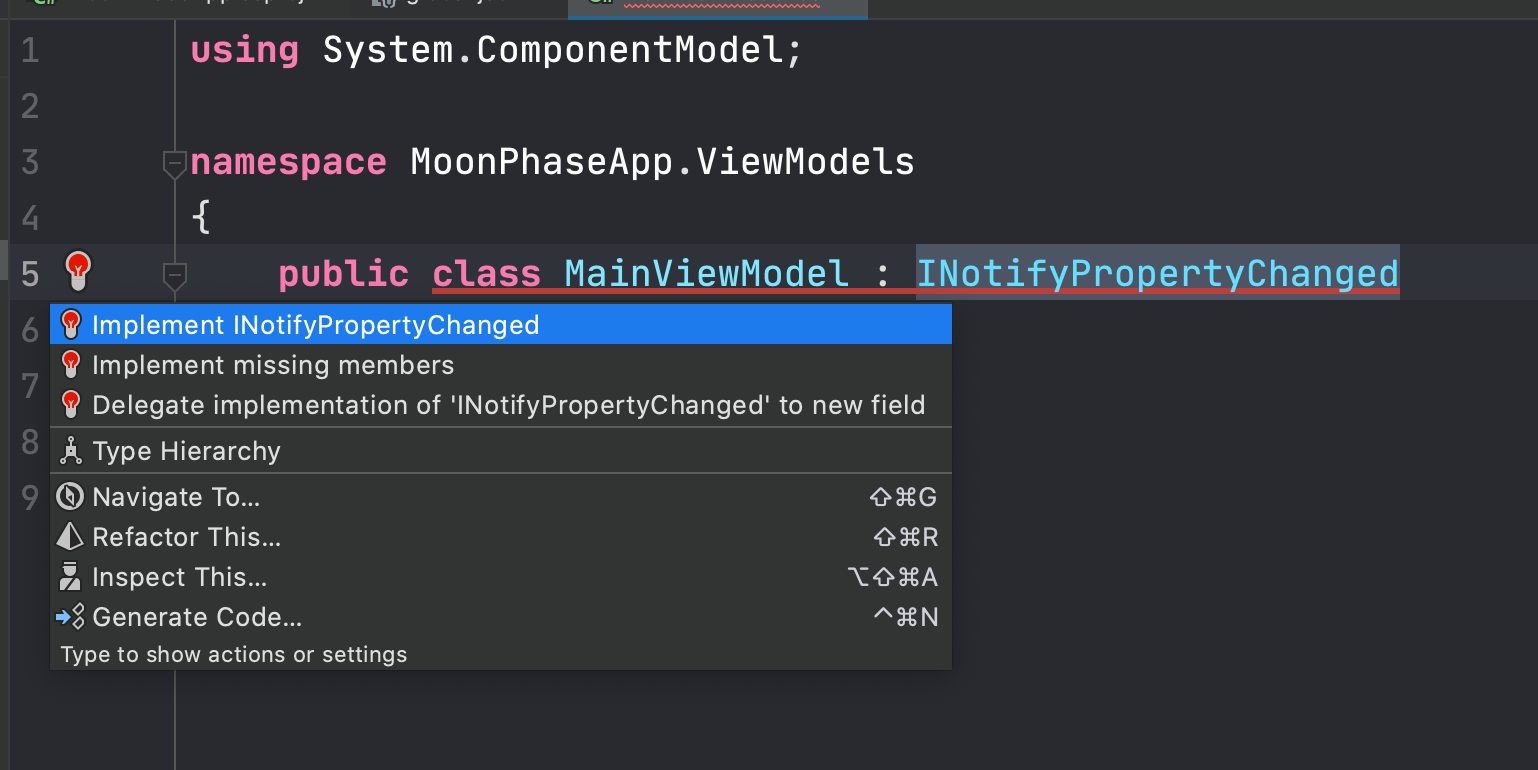 Implement INotifyPropertyChanged
