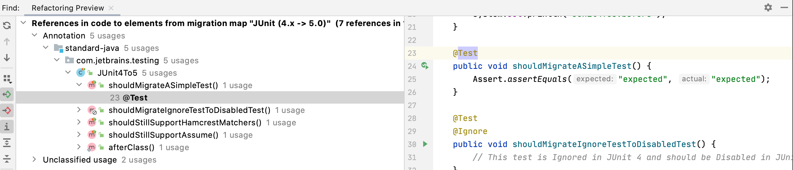 Annotation Refactoring Preview